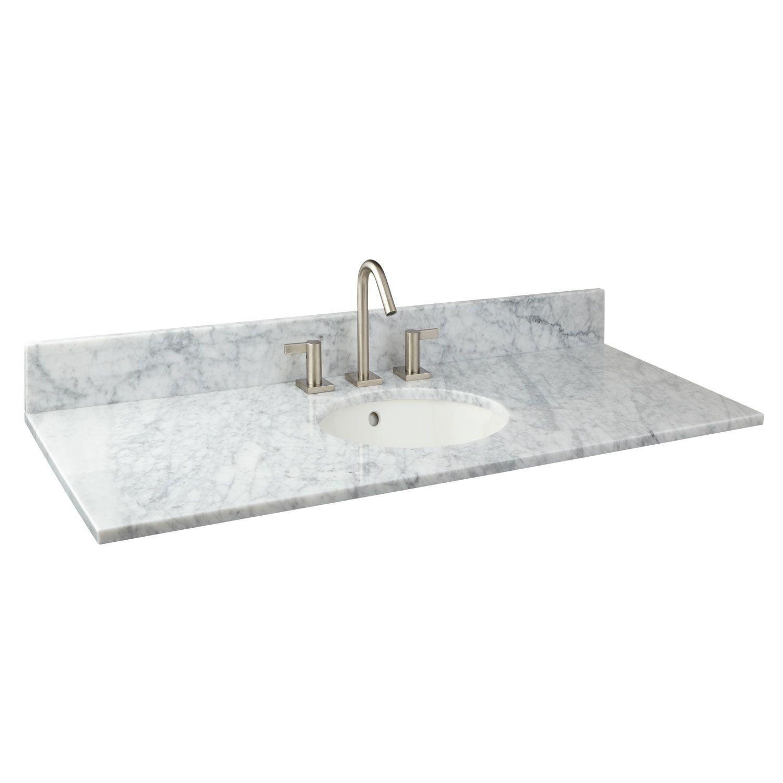 X Marble Vanity Top With Undermount Sink Bathroom
