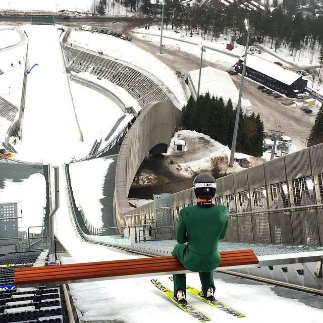 Holmenkollen 19 februari ·     Training day in Holmenkollen #skijumping #holmenkollen #oslo #letsjump #norway #visitoslo