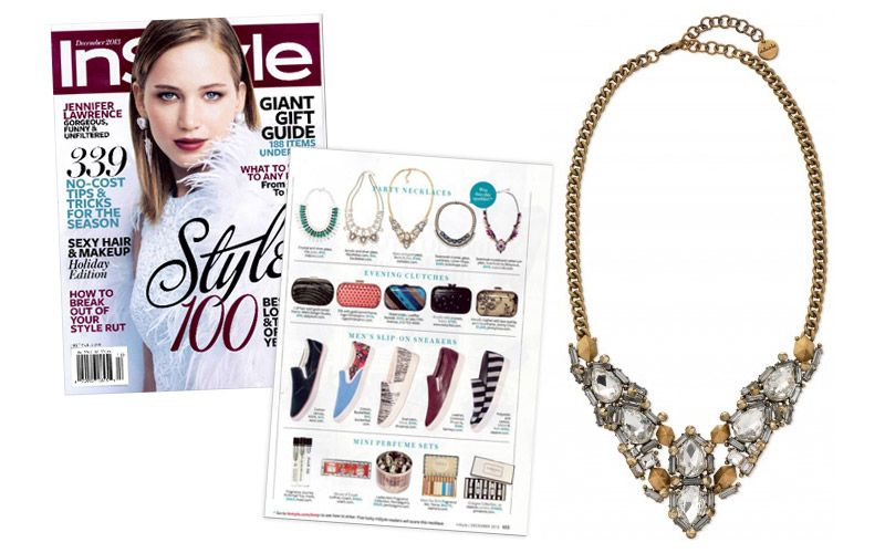 Swooning over the Zora Crystal Necklace by Stella & Dot featured in  InStyle www.stelladot.com/sites/angelaciccone