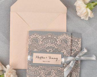 Etsy Lace Wedding Invitations zoomWedding Invitation Laser Cut