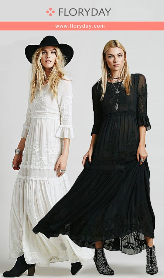 4c314ae0b36 Cotton Solid 3 4 Sleeves Maxi Casual Dress Cozy cotton maxi dress for  summer. View more at www.floryday.com.