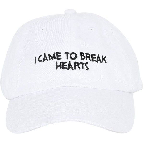 Nasaseasons Women Break Hearts Embroidered Baseball Hat 695 Gtq Liked On Polyvore Featuring Accessories Hats Acc Caps Fillers Wh Gorras Ropa Guay Ropa