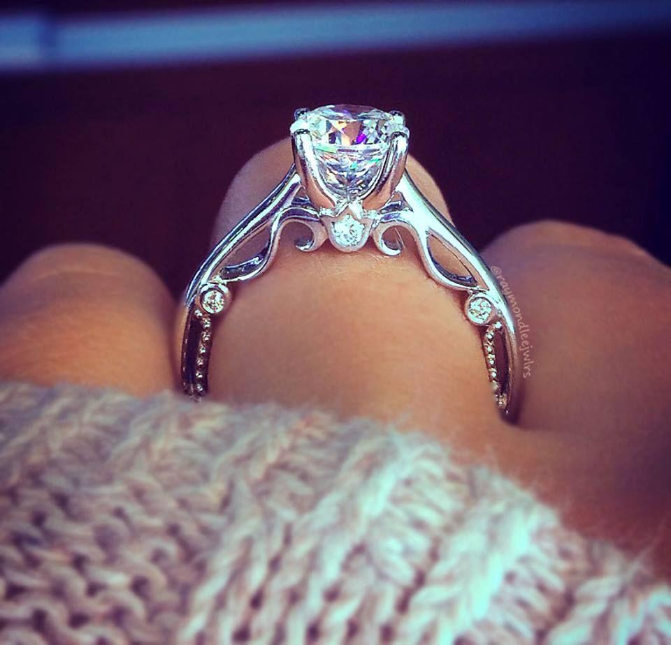 Verragio Engagement Rings 0 08ctw Diamond Setting Diamond Engagement Ring Set Engagement Rings Wedding Rings Engagement
