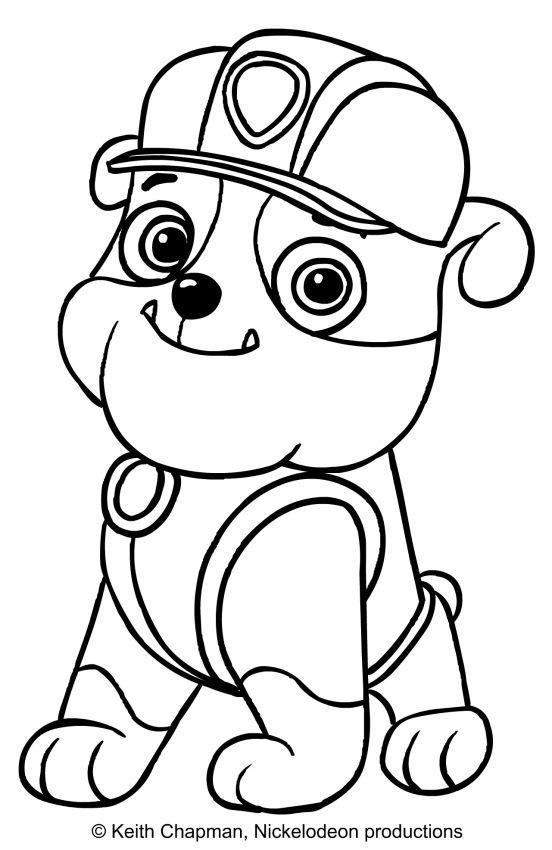 Rubble coloring page Paw Patrol