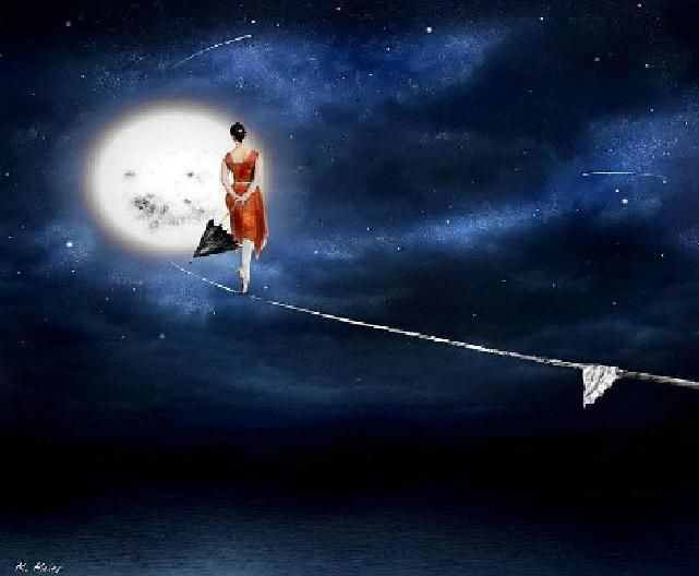 Tight wire to the Moon