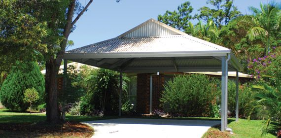 Made From Bluescope Steel And The Current Colorbond Sheeting Range You Get Shs Posts And Galvaspan Beams Incorpor Carport Plans Building A Shed Loafing Shed
