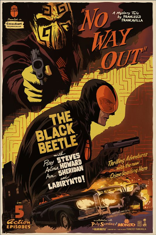 """Poster by Francesco Francavilla. 24""""x36"""" screen print. Hand numbered. Edition of 110. Printed by D Screenprinting. $75"""