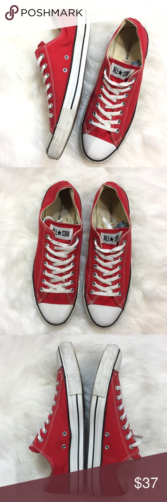 Red Converse All Stars. Men's 12. | Red