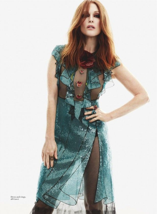 Julianne Moore in Gucci for Marie Claire UK March 2016 by David Roemer