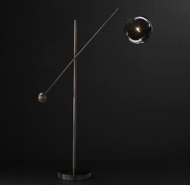 f7a4d1471116 Glass Globe Mobile Lever Floor Lamp | Lighting | Glass globe, Floor ...