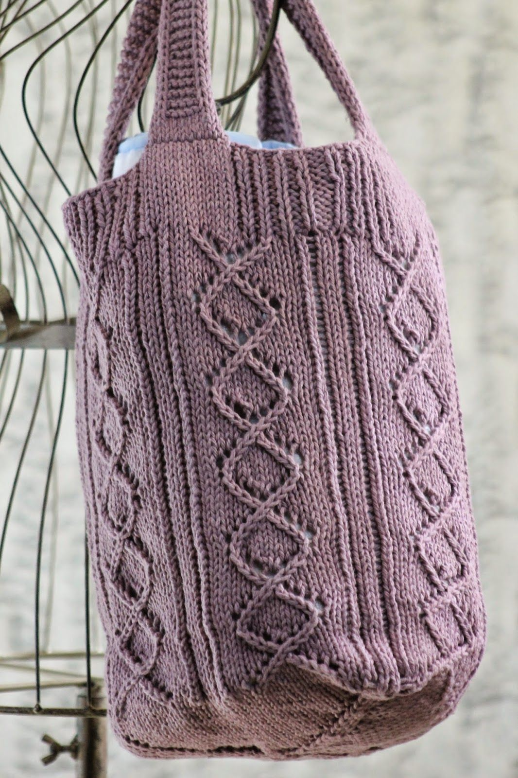 Rose Briar Bag | Knitted bags, Knitting, Pattern