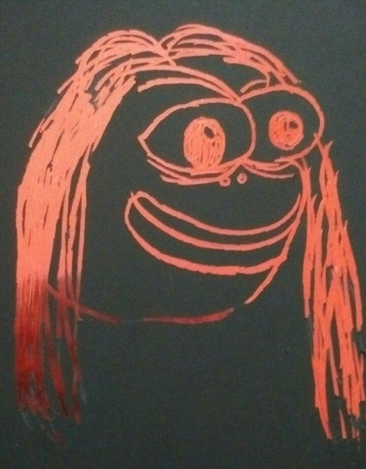 Pepe goes scratch art.