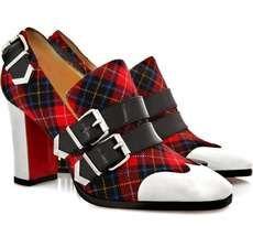 The Christian Louboutin Anita Buckled Tartan Shoes Go Punk #fashion trendhunter.com
