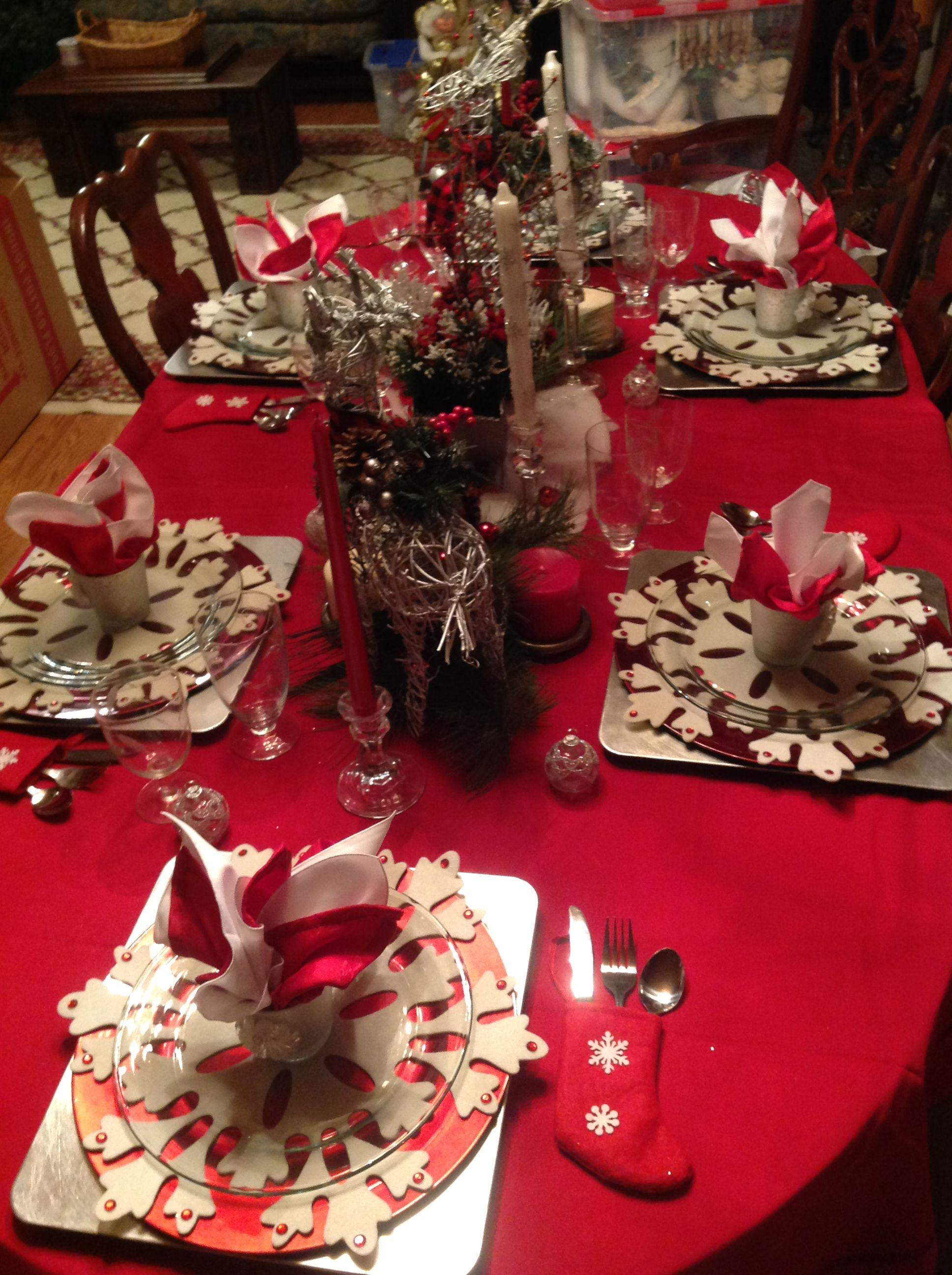 Table Decore For Christmas