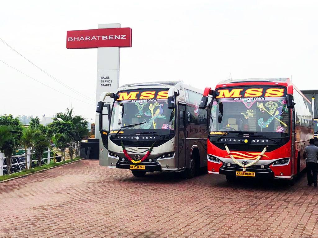1st A C Sleeper Coach Bus From Bharat Benz Service Bus