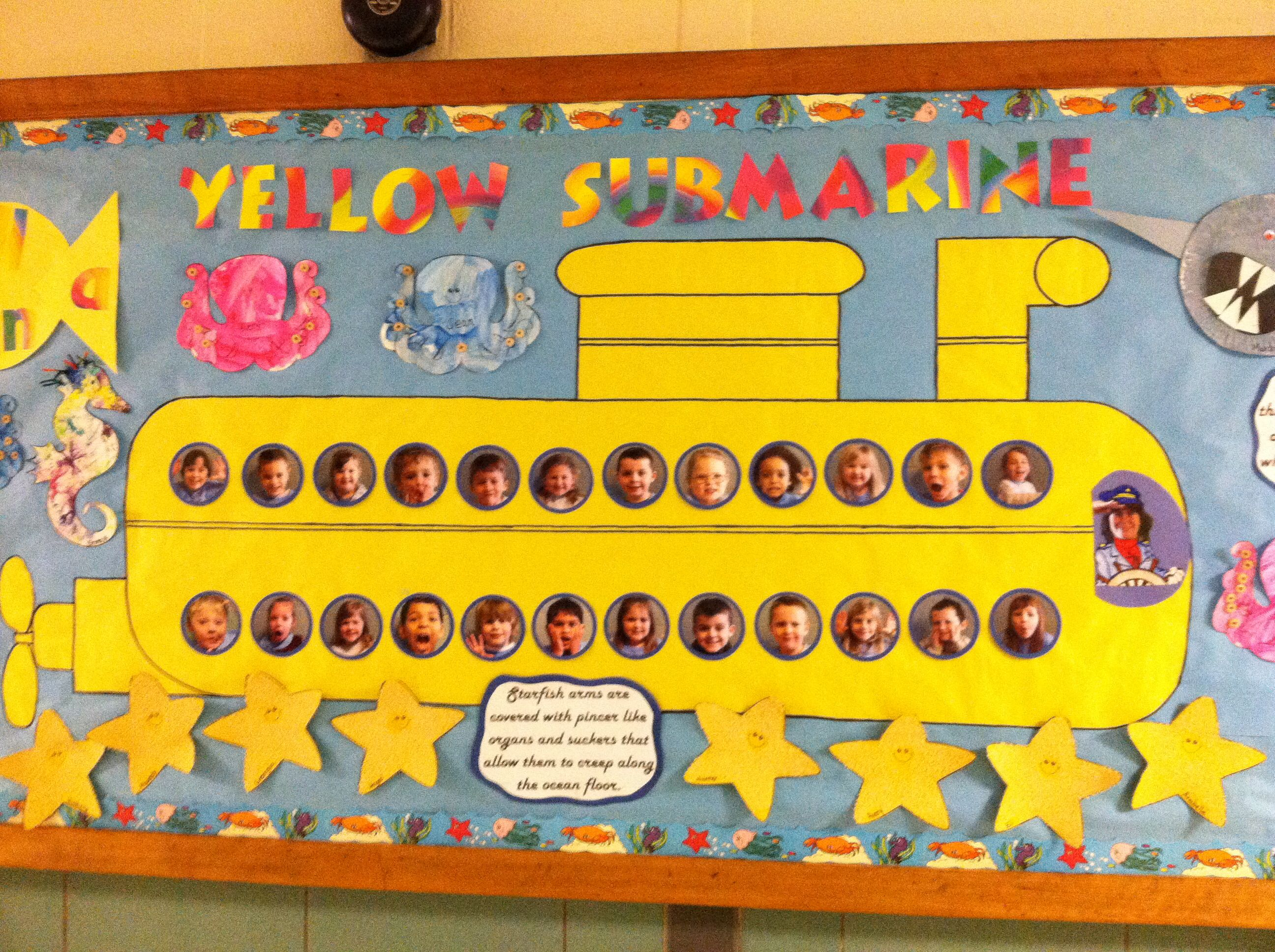 Yellow Submarine Ocean Bulletin Board Classroom Bulletin Boards