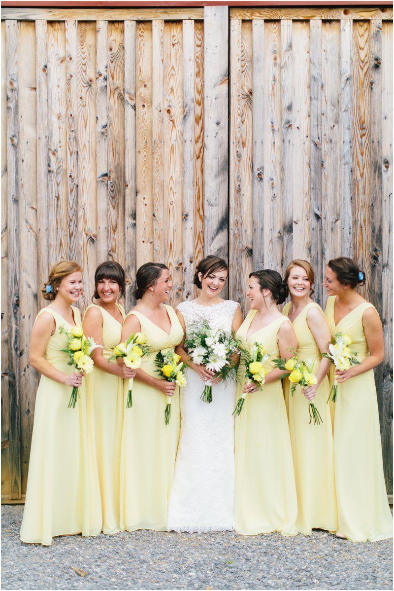 Egan Josh Blue Ridge Mountain Wedding Pale Yellow Bridesmaid Dresses Yellow Bridesmaid Dresses Light Yellow Weddings [ 1198 x 800 Pixel ]
