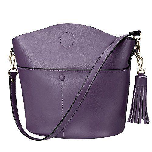 S-ZONE Women's Cowhide Genuine Leather Small Purse Handba...