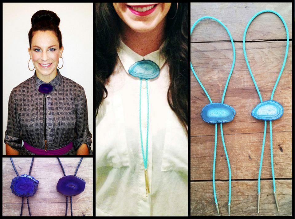 Bolo Tie - Urban Bolo Tie - Agate - Accessories - Necktie