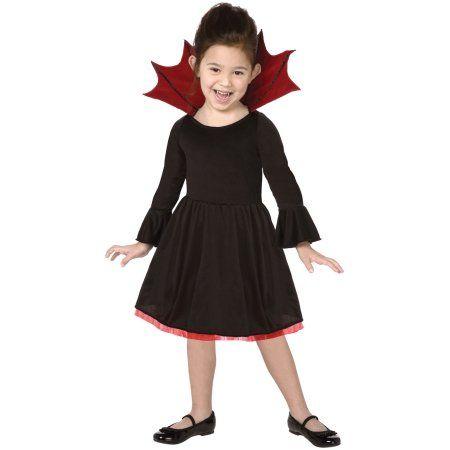 15539c46a Living Fiction Cutie Vampire Child Halloween Girl Costume, Black Red ...