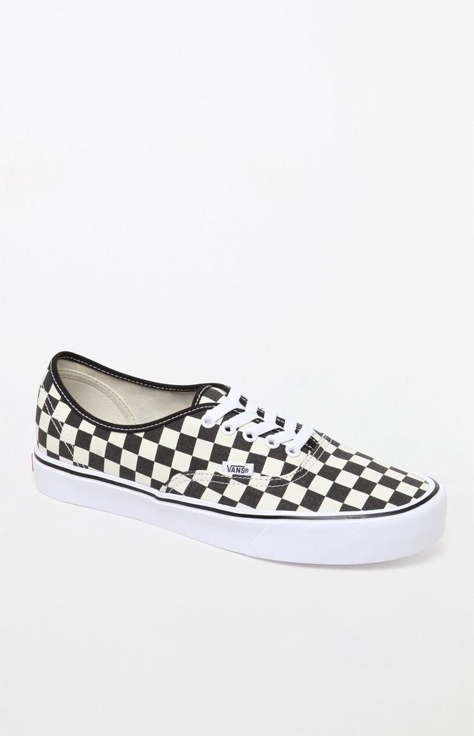 ffbb57f4d47551 Vans Checkerboard Authentic Lite Shoes - Black White 9 Vans Checkerboard