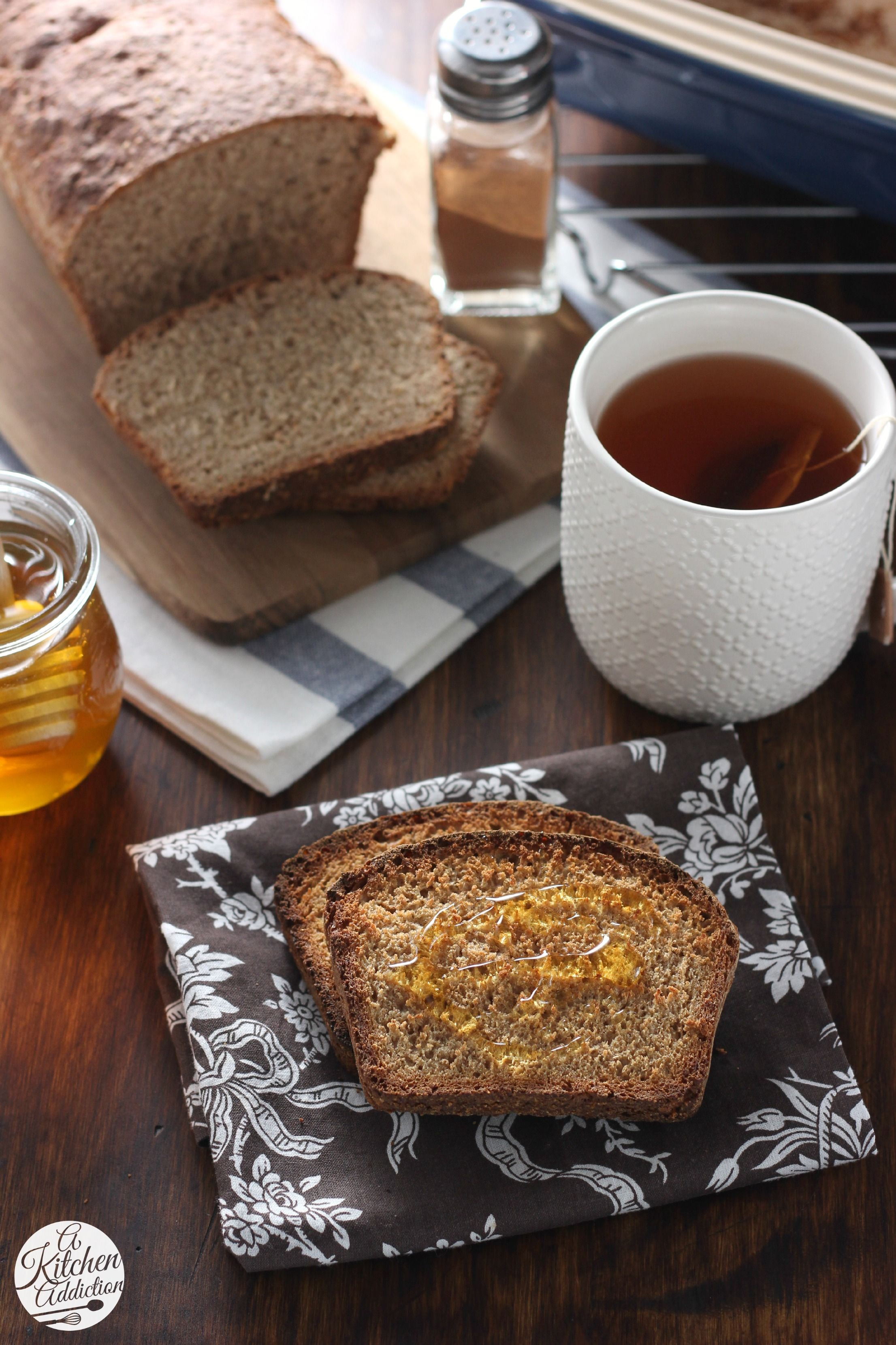 Cinnamon Honey Wheat English Muffin Bread