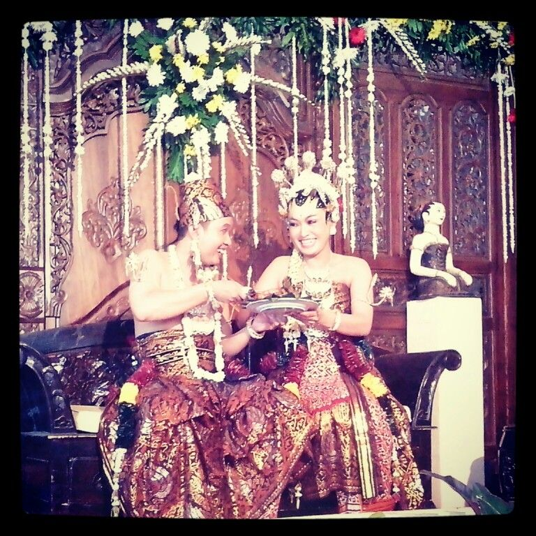 Wedding, culture from javanese, central java.