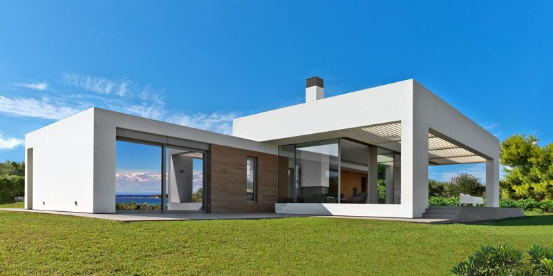 a stunning white modern home on a greek island home design lover - Greek Modern Home Architecture Design
