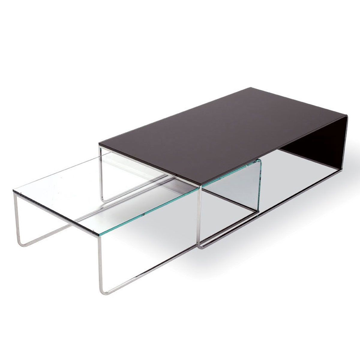 Nido Glass And Metal Coffee Table By Sovet Italia   Klarity