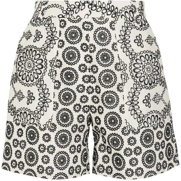 Cleary Broderie Anglaise Cotton Shorts - Off-white Topshop 3rtLADI