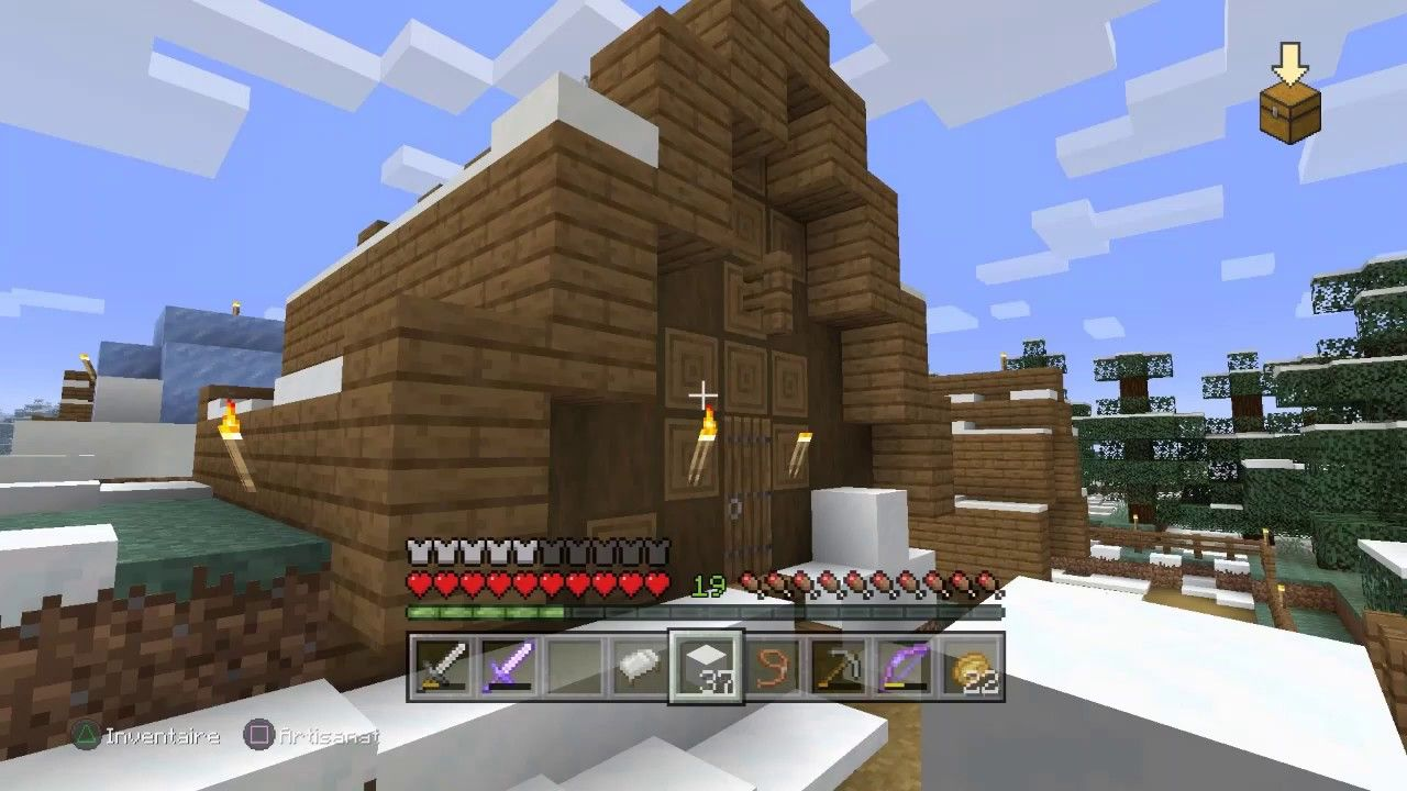 Minecraft Tannerie Biome Taiga Enneignee Avec Images Jeux