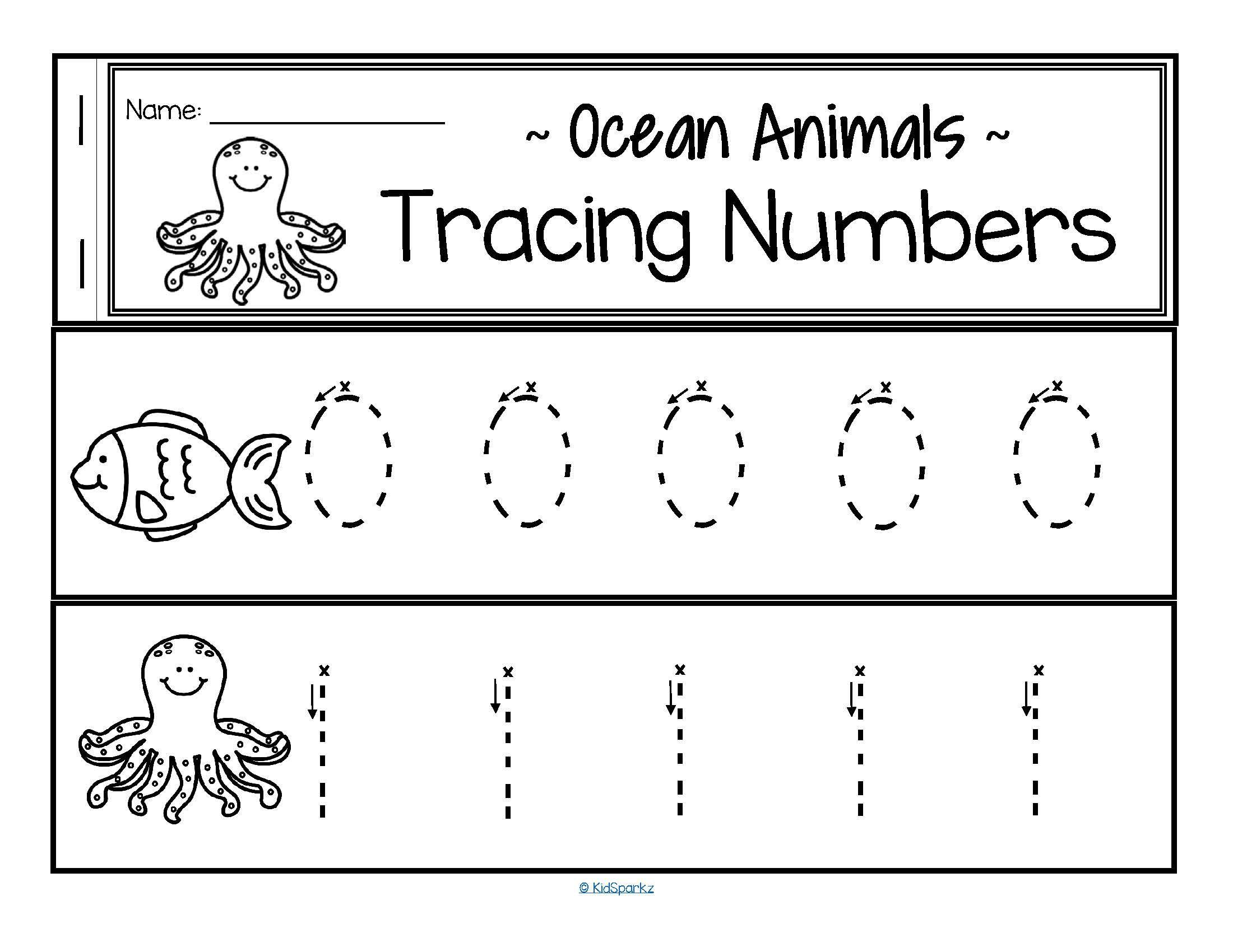 This Is A Set Of Simply Designed Number Tracing Strips For Early Learners 0 20 With An Ocean Animals Theme Large Dotte Ocean Animals Ocean Activities Ocean [ 1700 x 2200 Pixel ]