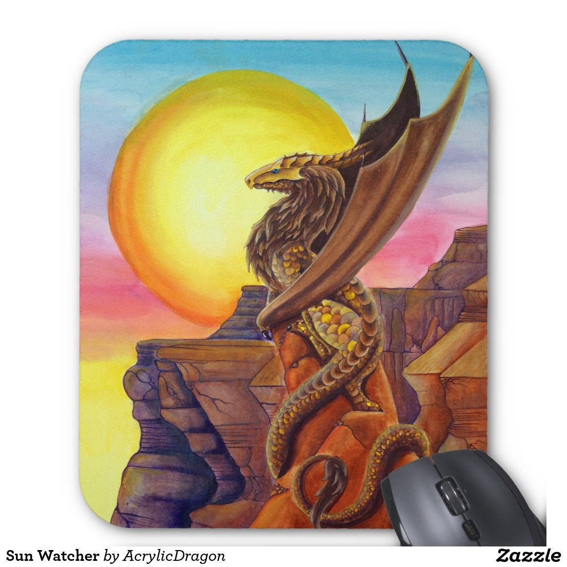 Sun Watcher Mouse Pad