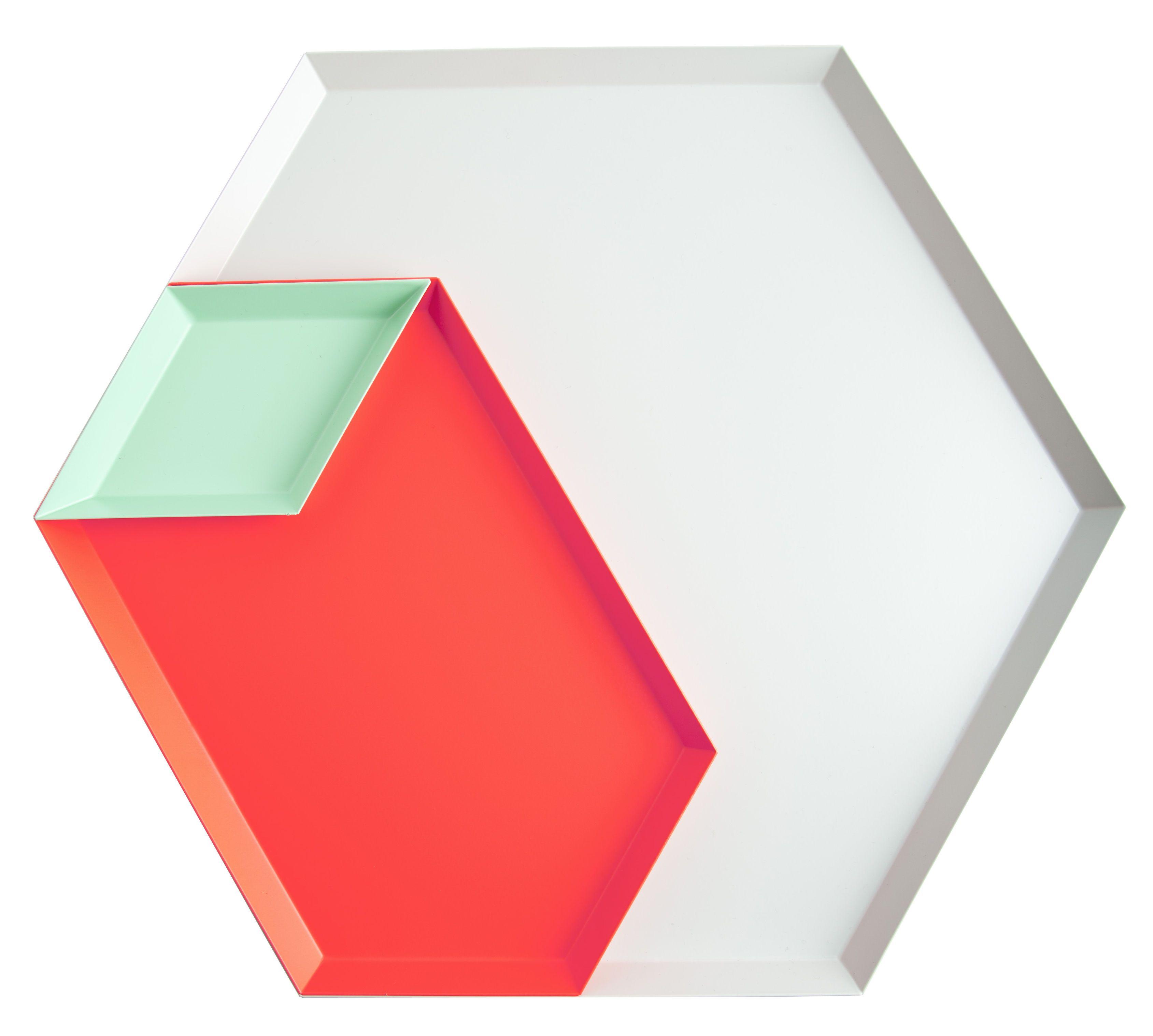 Hay Tablett tablett kaleido 3er set groß groß grau rot mintgrün