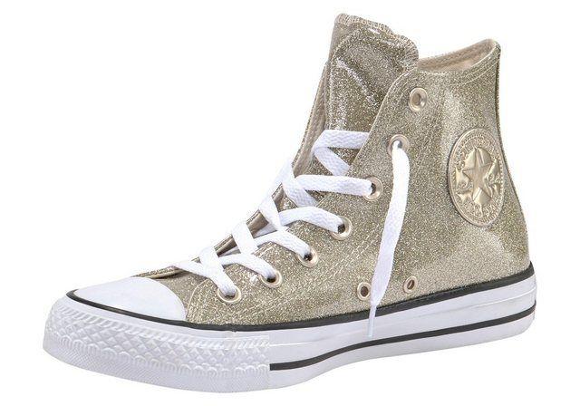 »Chuck Taylor All Star Hi Shimmer« Sneaker #whiteallstars