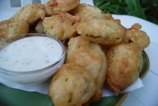 Southern (California) Fried Pickles!  oh my gosh, oh my gosh..YUM!!!