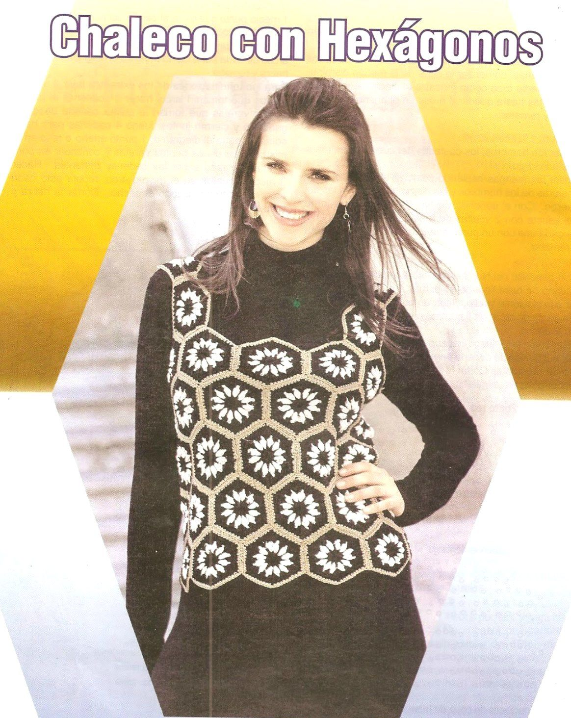 Chaleco top con hexagonos crochet tutorial | blusas crochet ...