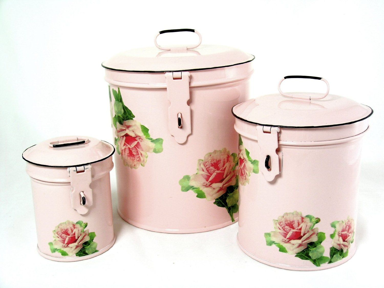 Amazon Com Retro Vintage Canister Set Kitchen Storage