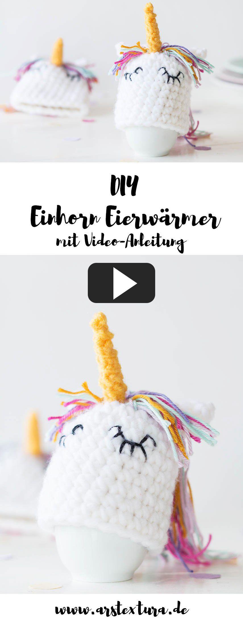 Eierwärmer Als Einhorn Häkeln Mit Video Anleitung Osterdeko
