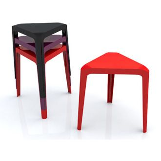 Chris Adamick Clic Stool In Rec Or Black Colour