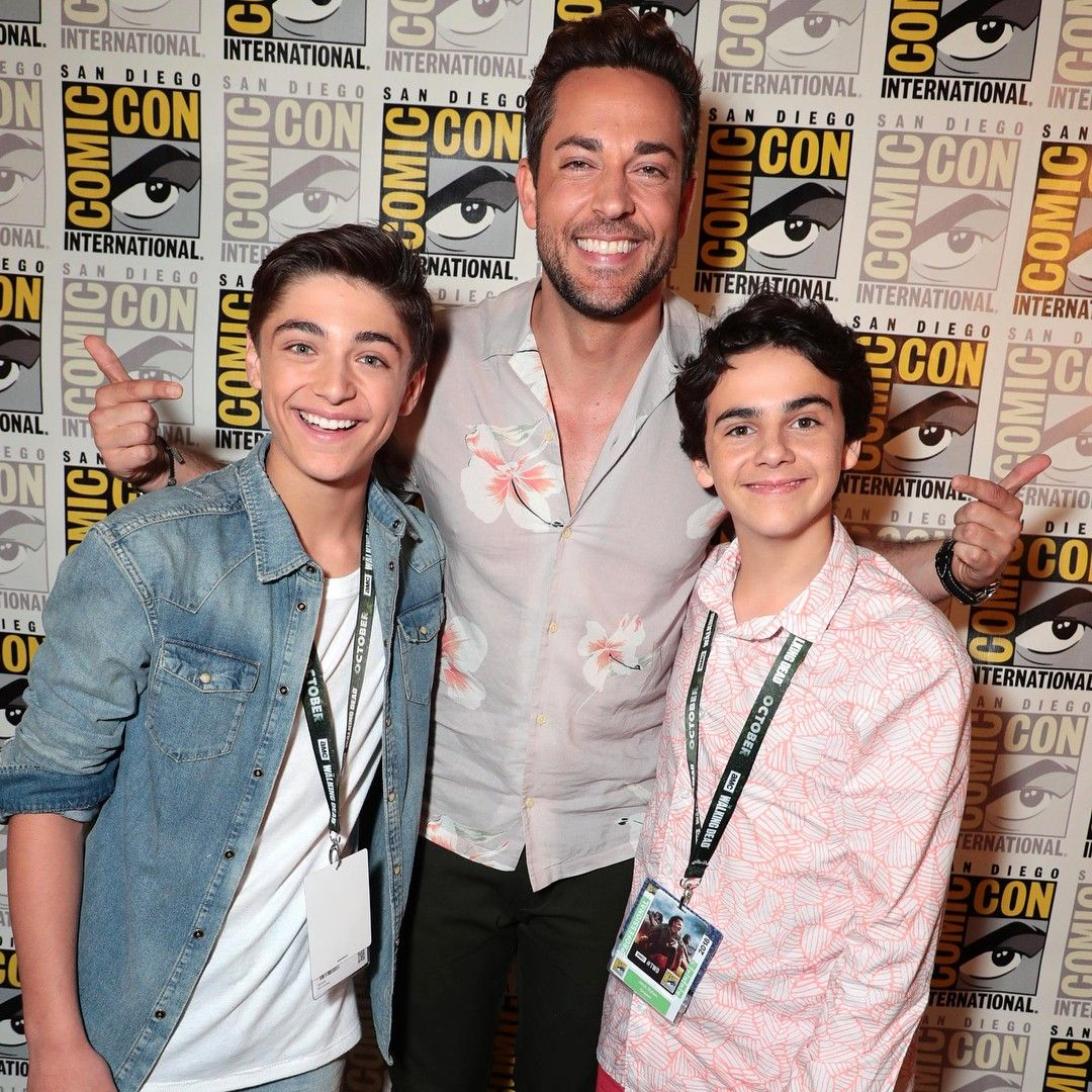 ️ Asher Angel, Zachary Levi And Jack Dylan Grazer Of Team