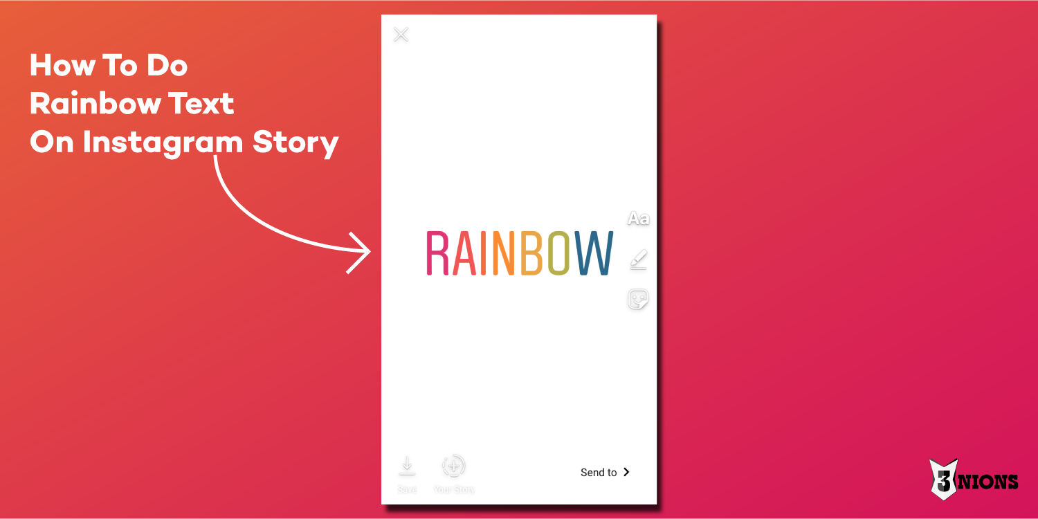 How To Do Rainbow Text On Instagram Story Instagram Story Instagram Rainbow