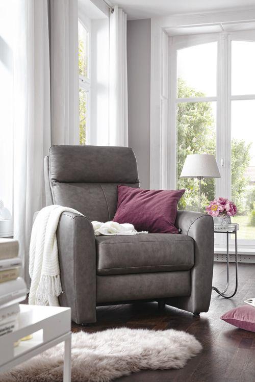So gemütlich! Der Ledersessel Global Arona lädt zum Verweilen ein - gemütliches sofa wohnzimmer