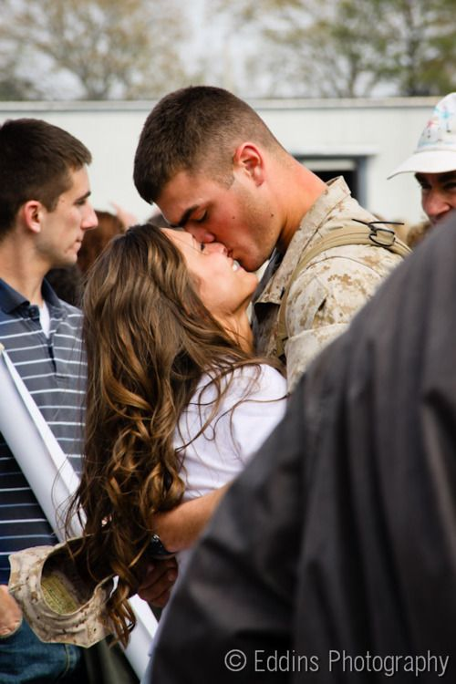 I seriously think military wives/girlfriends are some of the strongest women out there. I couldn't imagine being without my boyfriend for 6 months to a year! <3