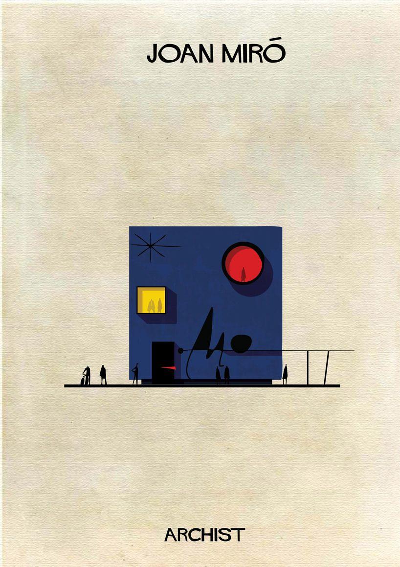 Galería - ARCHIST: Ilustraciones Famosas de Arte Reimaginadas como Arquitectura - 141
