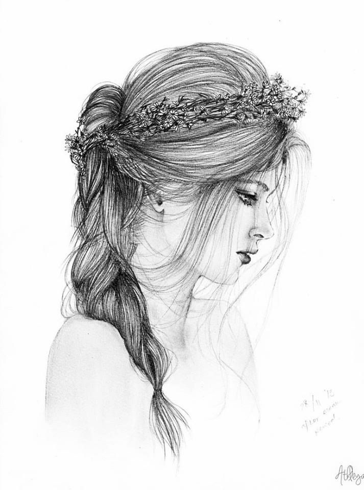 Beautiful Girls Pencil Sketches Dps Drawing In 2019 Pinterest