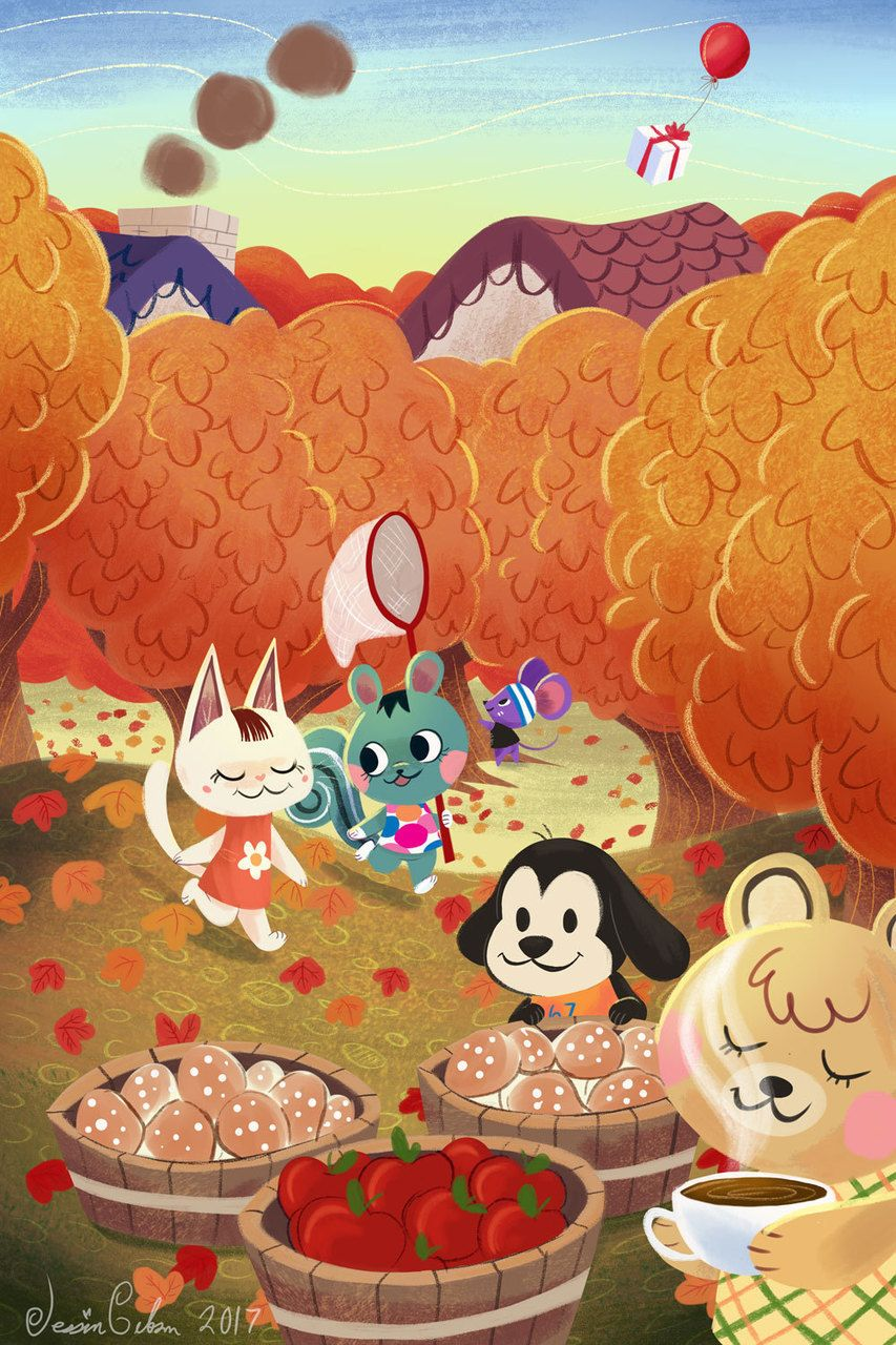 Animal Crossing Seasons Fall Animal Crossing Fan Art Animal Crossing Wild World Animal Crossing Game