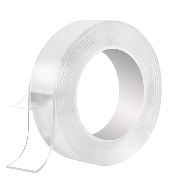Christmas Promotion Multi Functional Adhesive Residue Free Transparent Super Adhesive Tape Roll Adhesive Orange Peel Texture Solar Lights