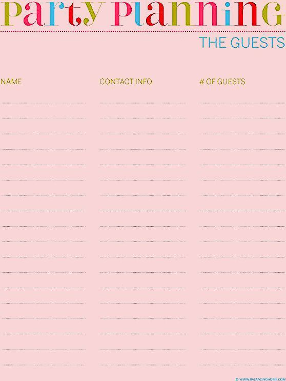 Photo of Party Planning Printables – Balancing Home