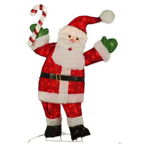 lovelowes holiday living 48in tinsel christmas santa click on the image lowes christmas
